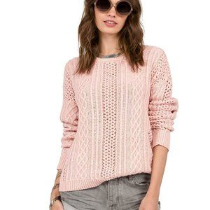 Volcom Powder Pink Mess Round Crewneck Sweater
